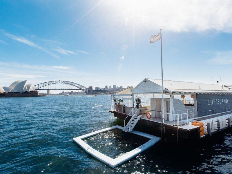 The Island Pool - Sydney Harbour - MV Luxury Yachts